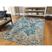 Modern Area Rugs Teal Blue Gray
