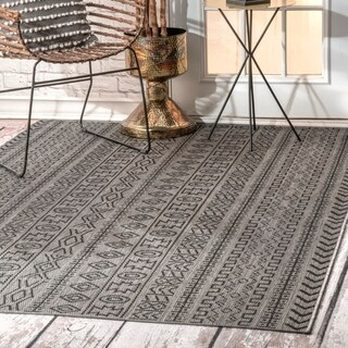 The Curated Nomad Brewster Indoor/Outdoor Transitional Tribal Aztec Geometric Area Rug