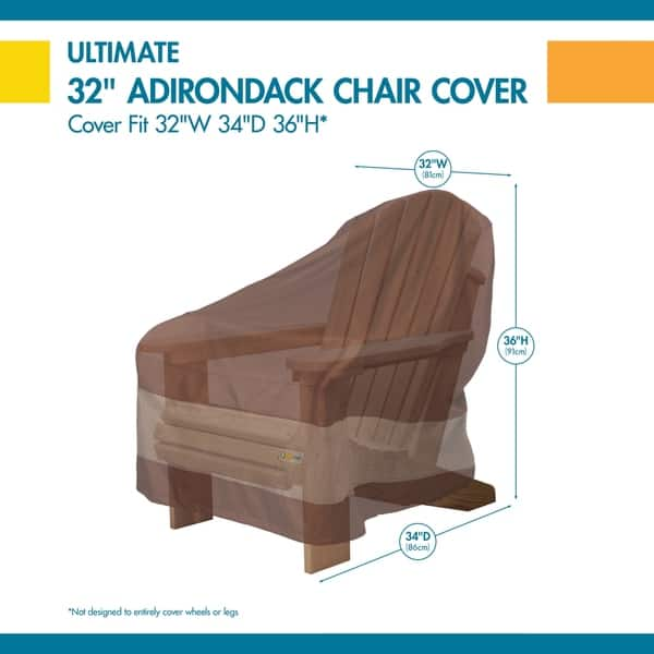 Incredible Shop Duck Covers Ultimate Adirondack Chair Cover 32W X 34 Dailytribune Chair Design For Home Dailytribuneorg