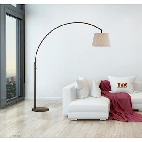 """Artiva USA 79"""" LED Allegra Antique Bronze ARC Floor Lamp"""