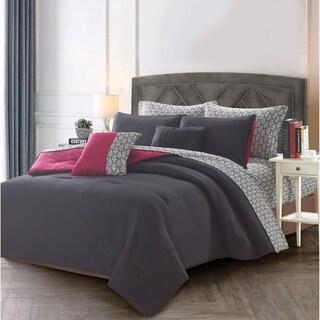 Porch & Den Edgecliff Damask 9-piece Bed in a Bag Set