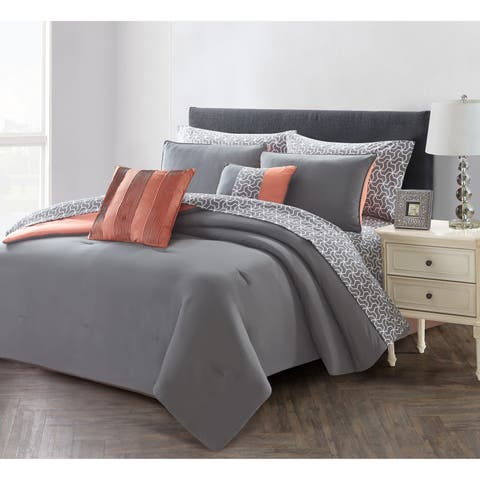 Porch & Den Emmett Solid 9-piece Bed in a Bag Set