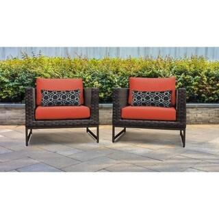 Barcelona 2 Piece Outdoor Wicker Patio Furniture Set 02b