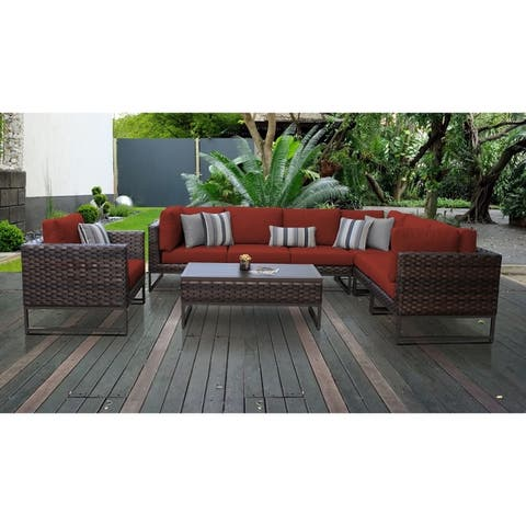 Barcelona 8 Piece Outdoor Wicker Patio Furniture Set 08d