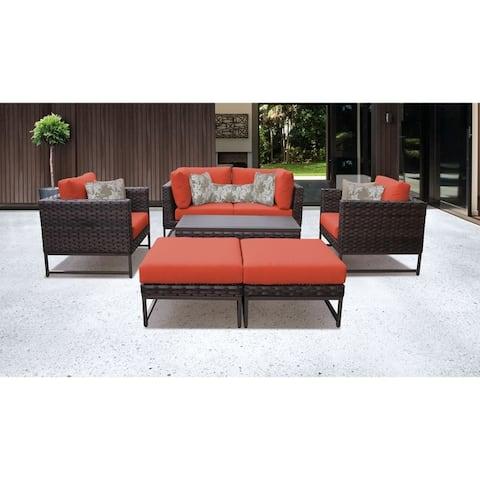 Barcelona 8 Piece Outdoor Wicker Patio Furniture Set 08c