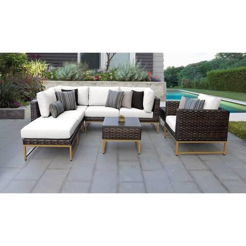 Barcelona 8 Piece Outdoor Wicker Patio Furniture Set 08m