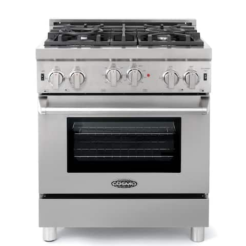 Commercial-Style 30 In. 3.9 Cu. Ft. Gas Range with 4 Italian Burners In Stainless Steel
