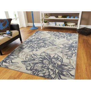 Copper Grove Kuklen Grey Floral Area Rug