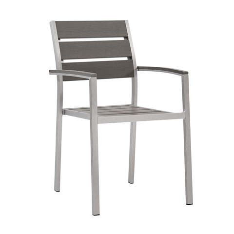 Shore Outdoor Patio Aluminum Dining Armchair