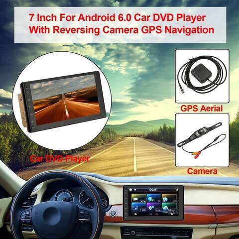 Car DVD Player With Reversing Camera GPS Navigation - black