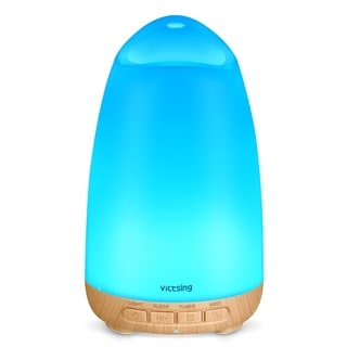 VicTsing 150ml Aroma Essential Oil Diffuser with Sleep Mode,  8-Color LED Night Lights