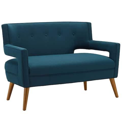 Carson Carrington Marvao Fabric/Beechwood Upholstered Loveseat