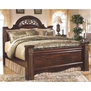 Copper Grove Lovech Reddish Brown Poster Bed