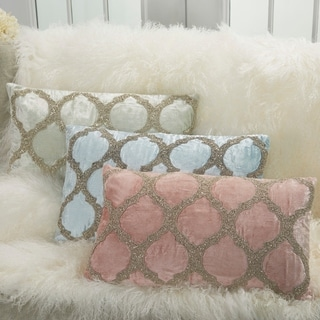 Inspire Me! Home Décor Beaded Lattice 12 x 21 Decorative Throw Pillow