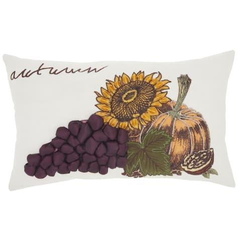 Mina Victory Harvest Sunflower Throw Pillow