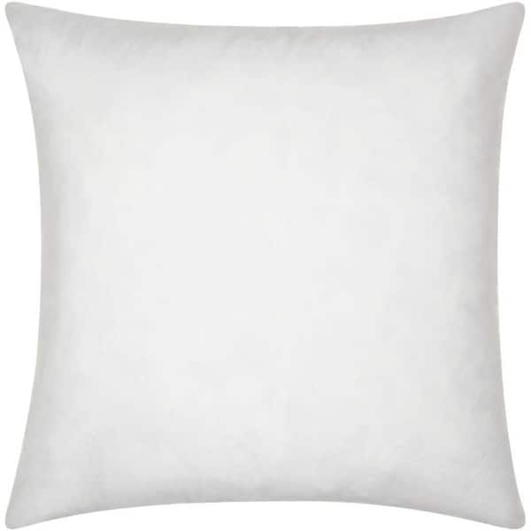 Nourison White Cotton Down-filled Pillow Insert