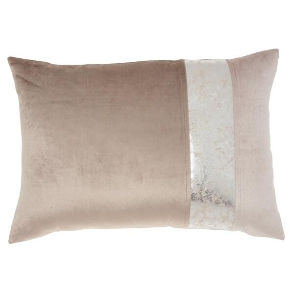 Inspire Me! Home Décor Nude Snake Skin Stripe 14 x 20 Decorative Throw Pillow