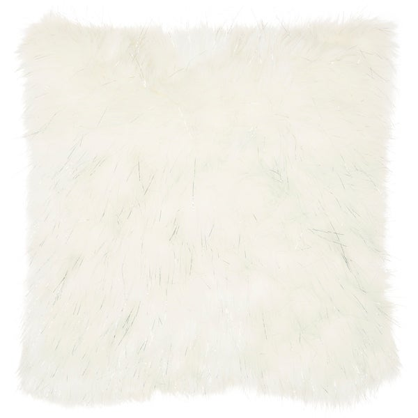 """silver-orchid-henry-white-faux-fur-decorative-throw-pillow---white---20""""-x-20"""" by silver-orchid"""