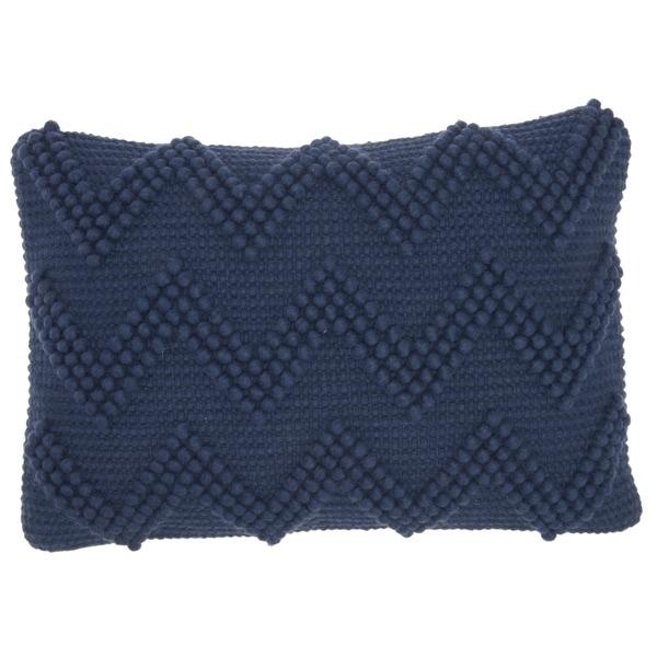 Mina Victory Large Chevron Indigo 14 x 20 Decorative Throw Pillow