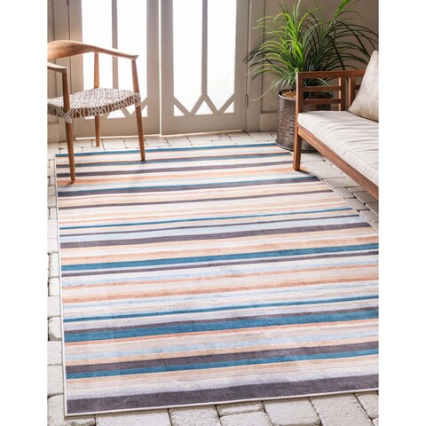 Carson Carrington Loviisa Unique Loom Outdoor Striped Rug