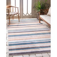 Carson Carrington Loviisa Unique Loom Outdoor Striped Rug