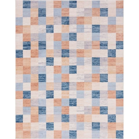 The Curated Nomad Noe Checkered Outdoor Rug