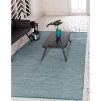 Havenside Home Situk Floral Border Outdoor Rug