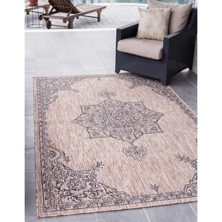 Link to Ward Cove Outdoor Antique Rug by Havenside Home Similar Items in Rugs