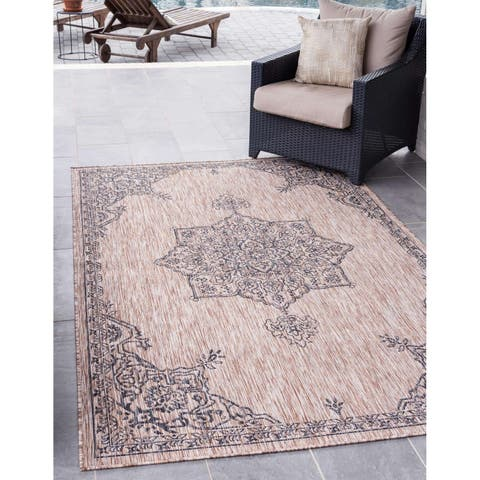 Havenside Home Ward Cove Outdoor Antique Rug