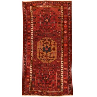 Handmade Hamadan Wool Rug (Iran) - 3'1 x 6'5