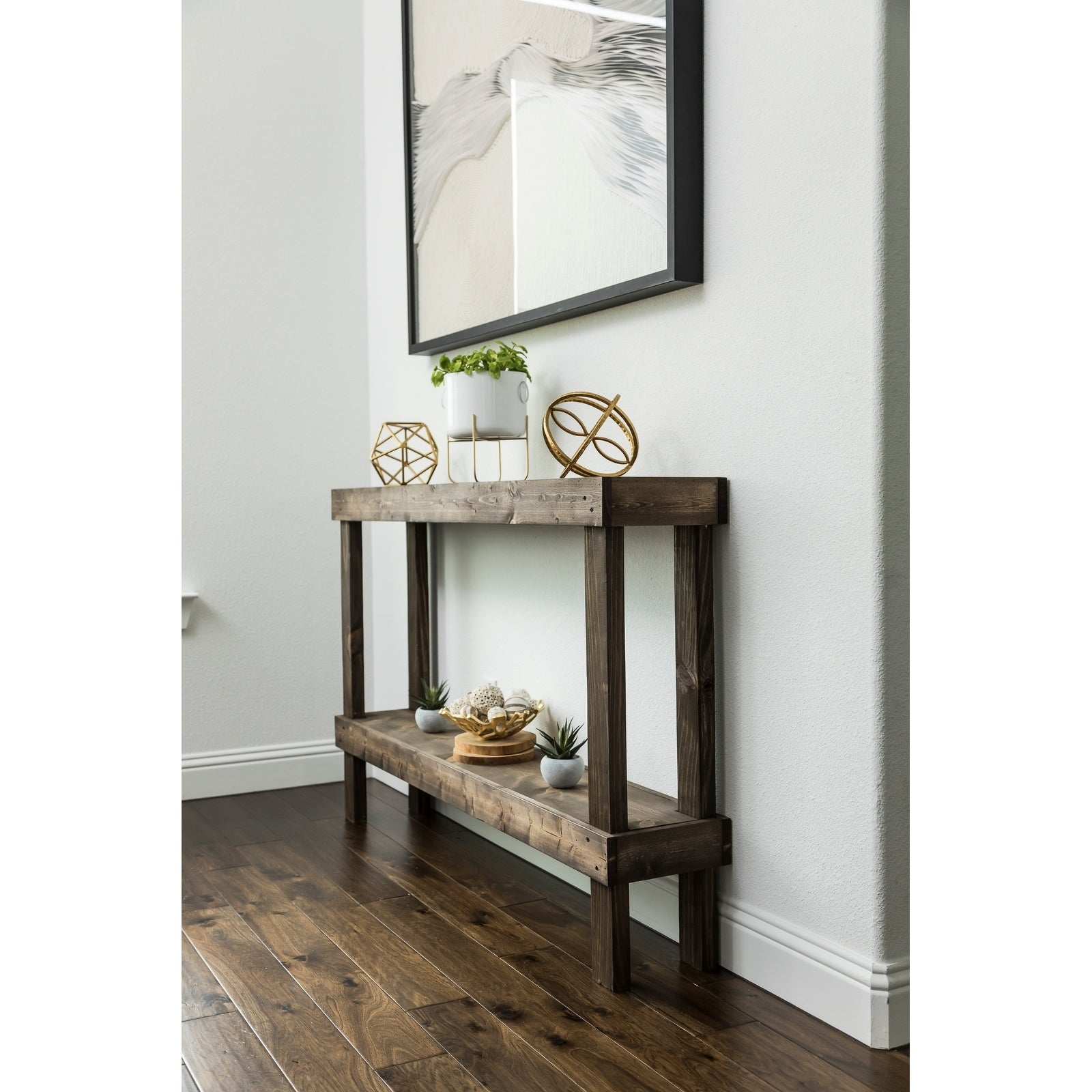 Rustic Luxe Large Wooden Sofa Table