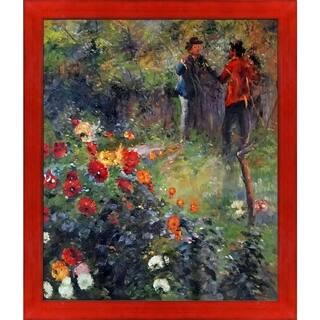 Pierre-Auguste Renoir 'Garden in the Rue Cortot Montmartre' Hand Painted Oil Reproduction