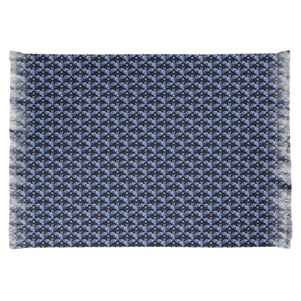 Katelyn Elizabeth Blue Bats Pattern Chenille Rug