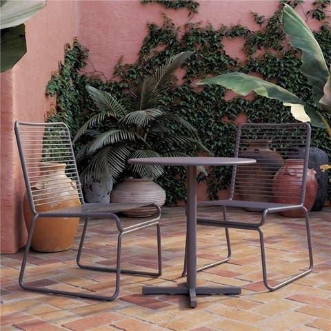COSCO Nyla Charcoal Grey 3 Piece Patio Bistro Set