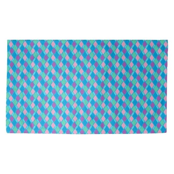 Katelyn Elizabeth Blue Multicolor Retro Diamonds Dobby Rug