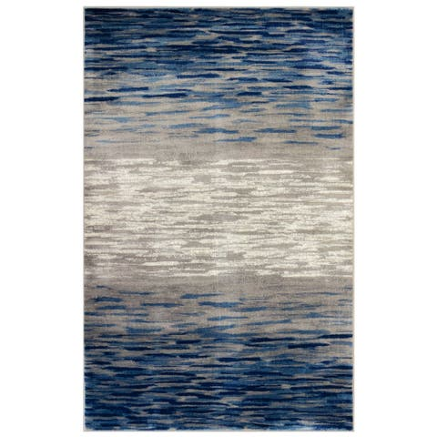 Porch & Den Hartwick Blue Indoor Rug