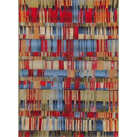"Liora Manne Marina Paintbox Indoor/Outdoor Rug Multi 7'10"" x 9'10"""