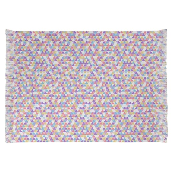 Katelyn Elizabeth Pink Pastel Triangle Pattern Chenille Rug