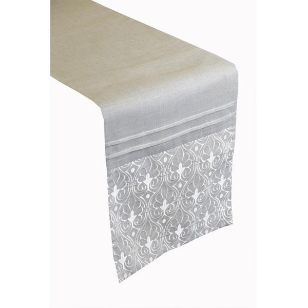 Arabesque Poly and Linen Table Runner