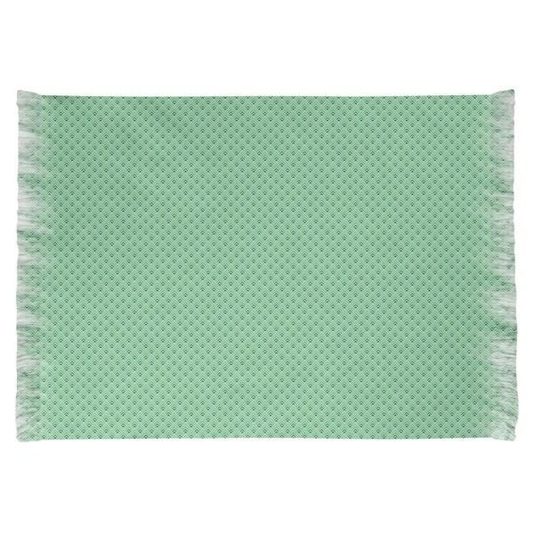 Katelyn Elizabeth Green Reverse Ombre Geometric Pattern Chenille Rug