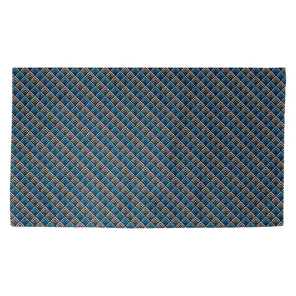 Katelyn Elizabeth Blue Stripe Reverse Ombre Geometric Pattern Dobby Rug