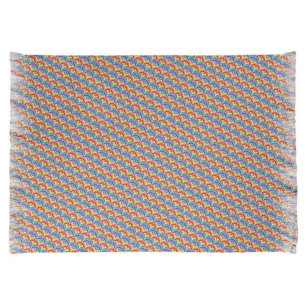 Katelyn Elizabeth Alternating Rainbow Scales Chenille Rug