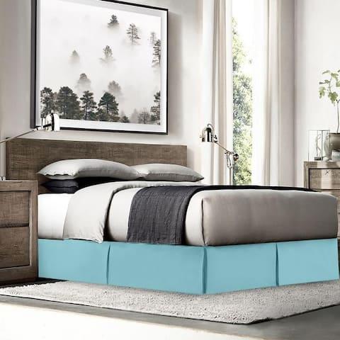 "Nestl Bedding Luxury Pleated Queen Size Bed Skirt - 14"" Drop"