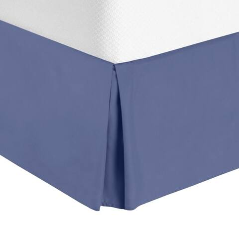 "Nestl Luxury Pleated Queen Size Bed Skirt - 14"" Drop"