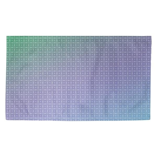 Katelyn Elizabeth Blue & Green Doily Pattern Dobby Rug
