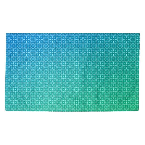 Katelyn Elizabeth Green & Blue Doily Pattern Dobby Rug