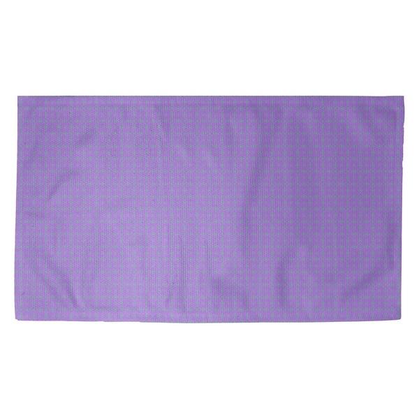 Katelyn Elizabeth Purple with Green Doily Pattern Dobby Rug