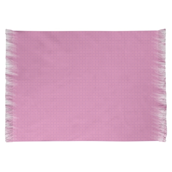 Katelyn Elizabeth Pink with Purple Doily Pattern Chenille Rug