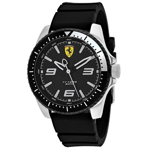 Ferrari Men's 830464 'XX Kers' Black Silicone Watch