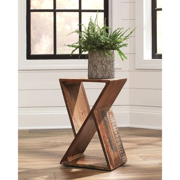 Recycled Wood Design Living Room Accent Table